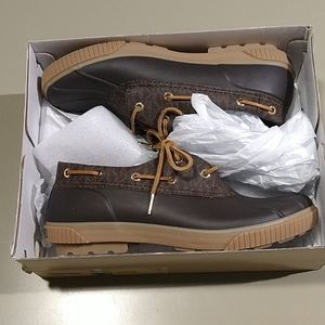 Micheal kors Hyde duck shoes size 10 brand new